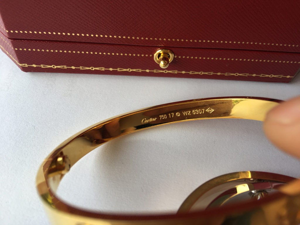 Cartier LOVE Bracelet with Great Cartier Markings and