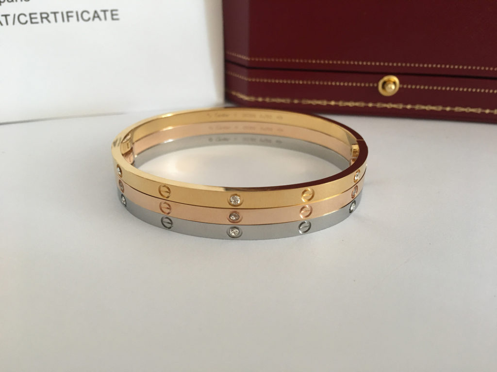 Cartier LOVE Bracelet Yellow Gold, Pink Gold, White Gold