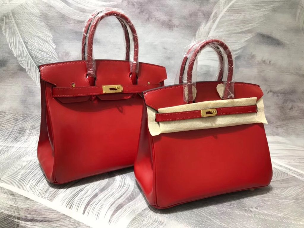 Hermes Birkin 30 Red Box Gold Hardware