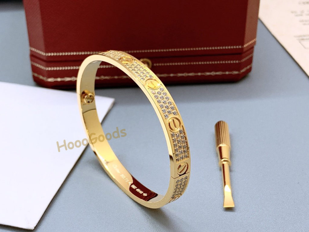 CARTIER LOVE BRACELET DIAMOND-PAVED YELLOW GOLD