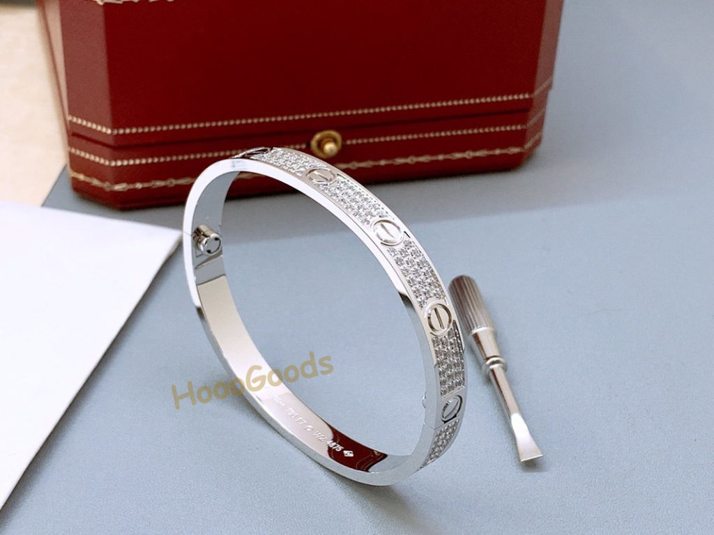 CARTIER LOVE BRACELET DIAMOND-PAVED WHITE GOLD