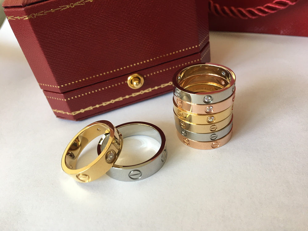Cartier Love Ring white gold yellow gold pink gold