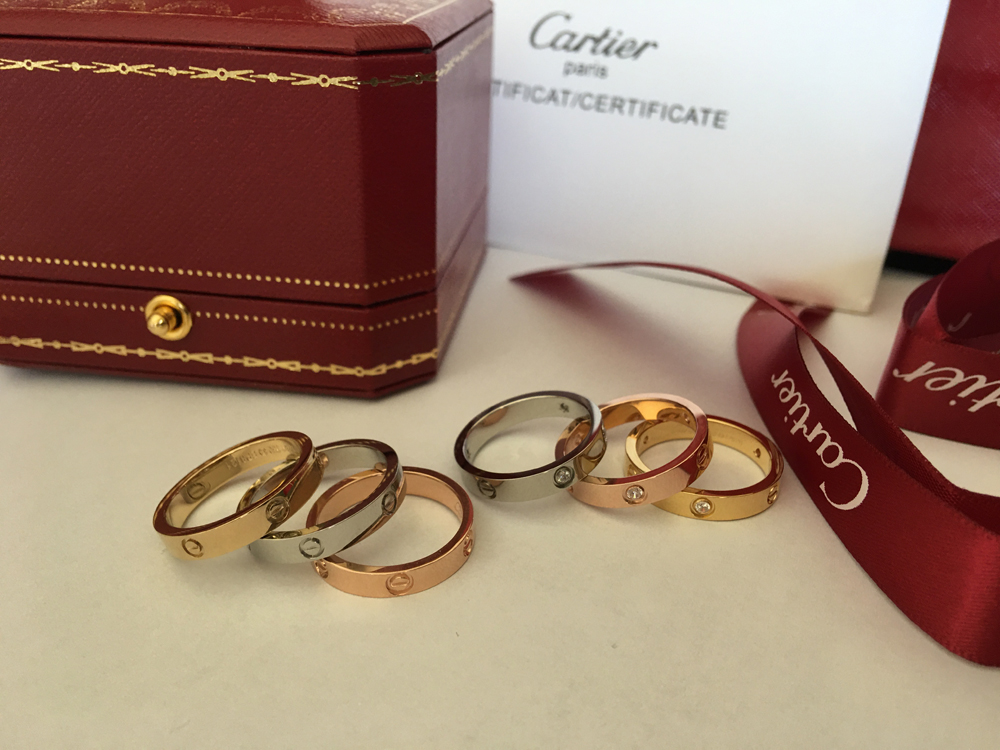 Cartier Love Ring diamonds white gold yellow gold pink gold
