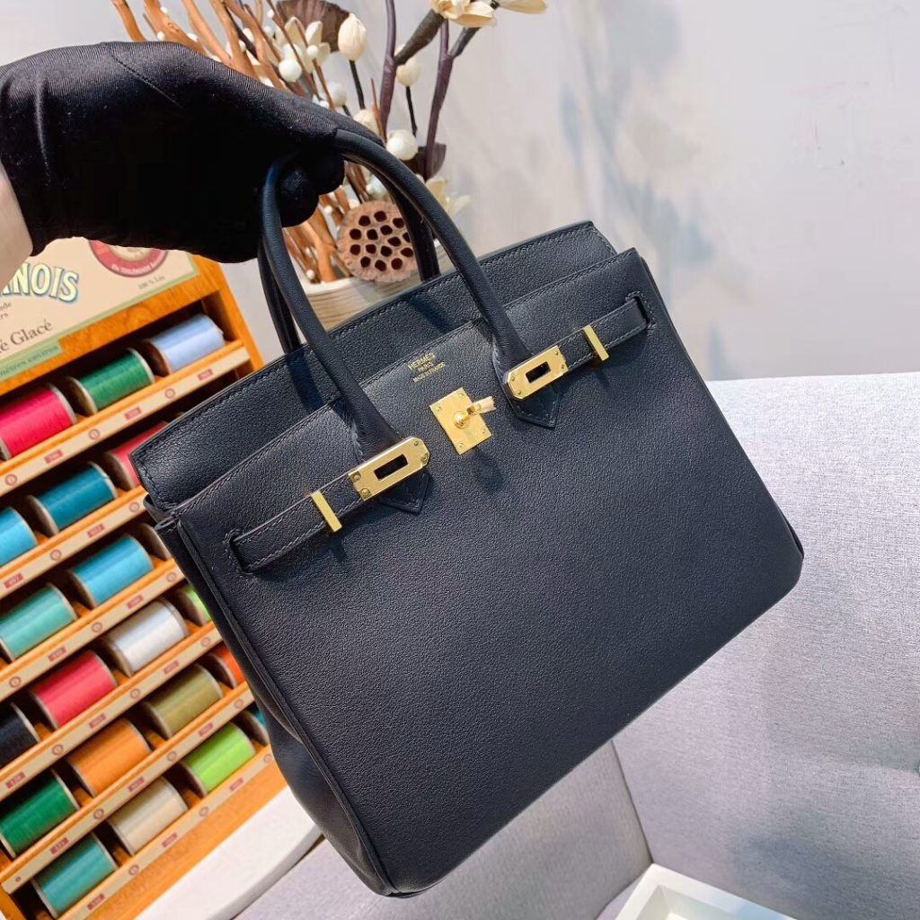 Hermes Birkin 35 Black Swift Gold Hardware