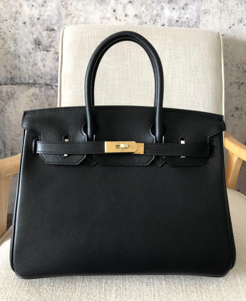 Hermes Birkin 30 Black Box Calf Gold Hardware